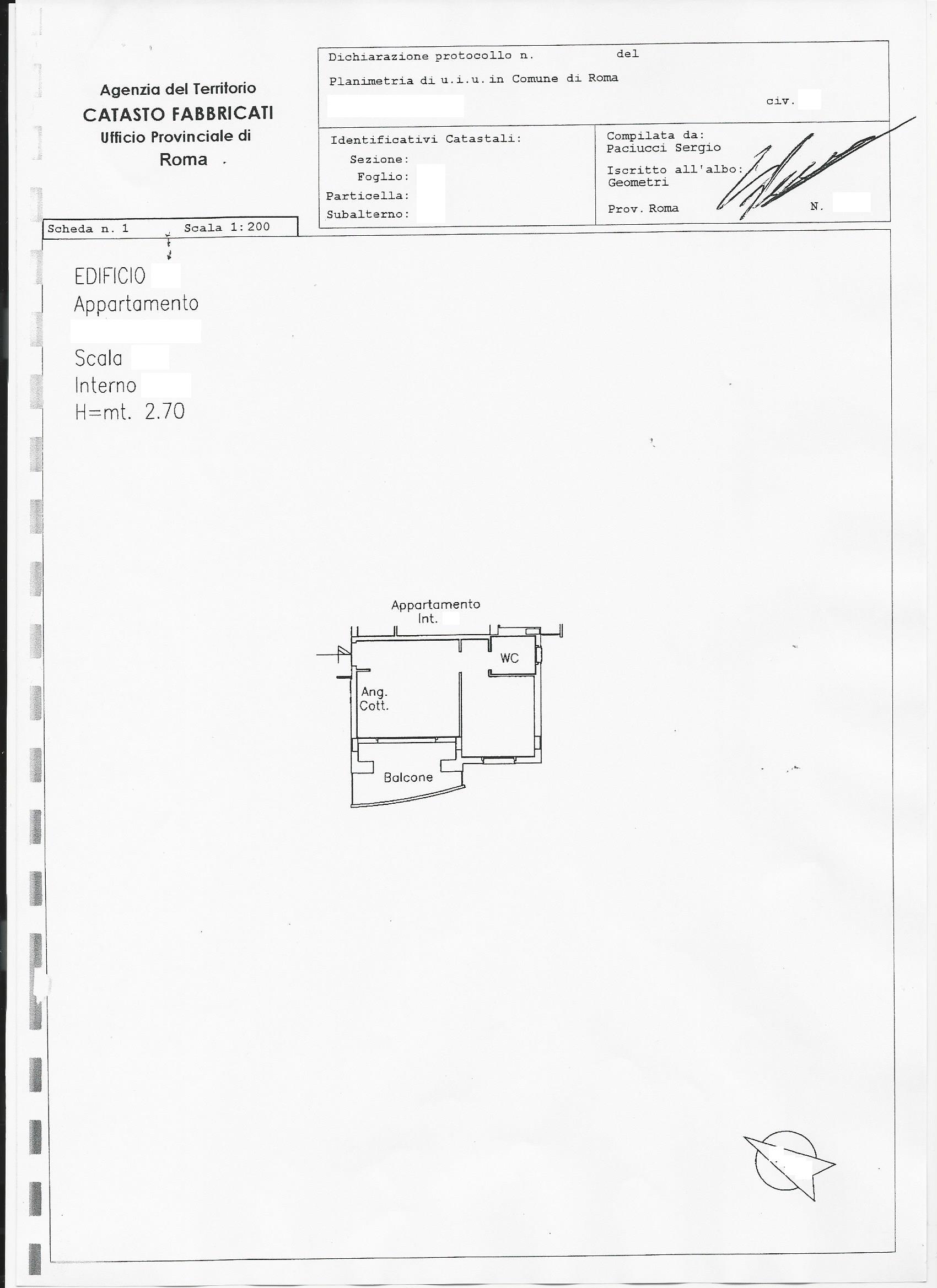 Appartamento in vendita a roma appartamento localit porta - Accatastamento casa ...